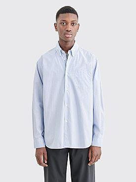 Très Bien Classic Shirt Tech Stripe Blue