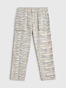 Très Bien Printed Fatigue Twill Pants Pebble