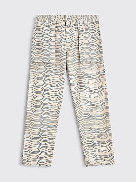 Très Bien Printed Fatigue Twill Pants Pebble