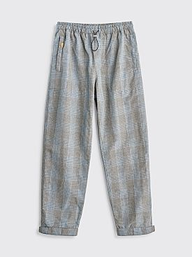 Très Bien Alpine Trousers Linen Checks Beige