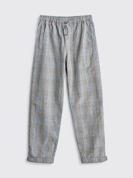 Très Bien Alpine Trousers Linen Checks Beige