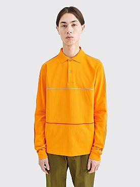 Très Bien Piped Pique Cotton Sweater Gold