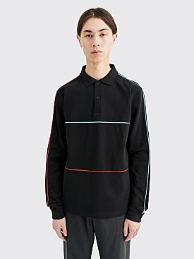 Très Bien Piped Pique Cotton Sweater Black