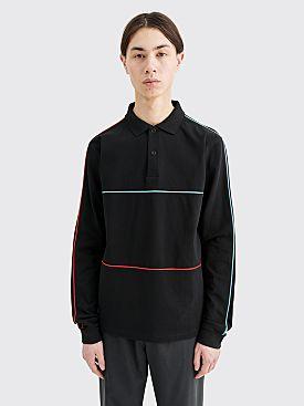 Très Bien Piped Pique Cotton Sweater Black
