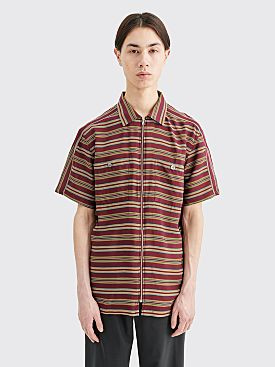 Très Bien Camp Shirt Stripe Burgundy
