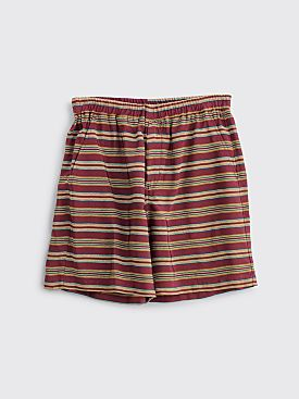 Très Bien Sport Shorts Stripe Burgundy