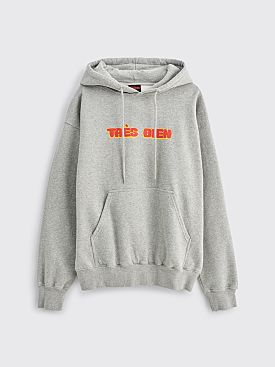 Très Bien Souvenir Hooded Sweatshirt Chubby Font Heather Grey