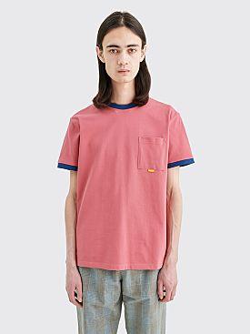 Très Bien Ringer Pocket Pique T-shirt Mauve