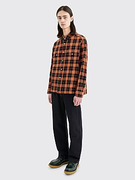 Très Bien Over Shirt Plaid Black / Orange
