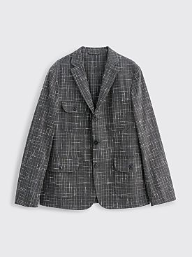 Très Bien Four Pocket Blazer Checked Bouclé Black
