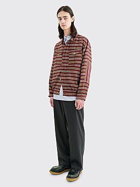Très Bien Utility Shirt Jacket Burgundy