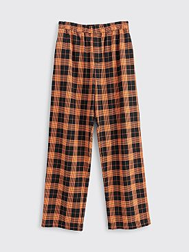 Très Bien Relaxed Suit Trousers Plaid Black / Orange