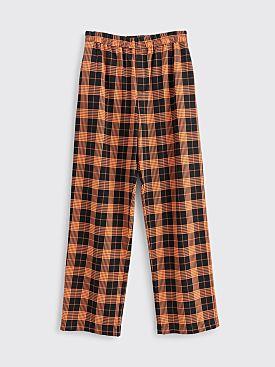 Très Bien Relaxed Suit Trousers Plaid Black / Orange