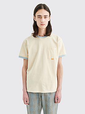 Très Bien Ringer Pocket Pique T-shirt Parchment