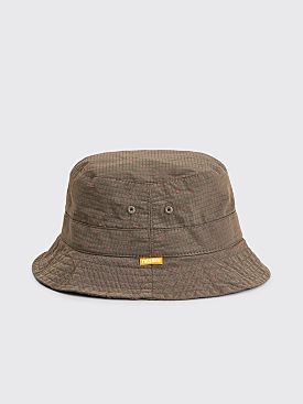 Très Bien Bucket Hat Rip Stop Brown / Red