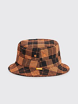 Très Bien Bucket Hat Plaid Black / Orange