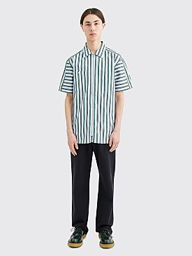 Très Bien Camp Shirt Poplin University Stripe Green