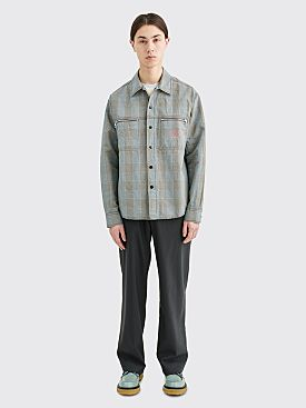 Très Bien Jungle Shirt Linen Checks Beige
