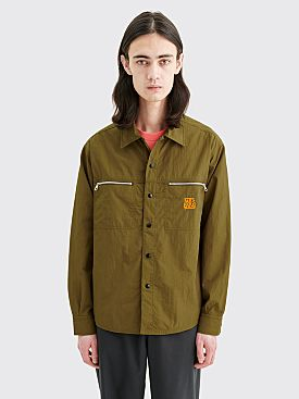 Très Bien Jungle Shirt Nylon Tech Twill Army Green