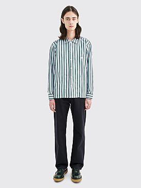Très Bien Short Tunic Shirt Poplin University Stripe Green