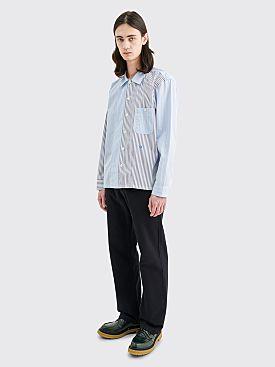Très Bien Short Tunic Cotton Shirt Mixed Blue