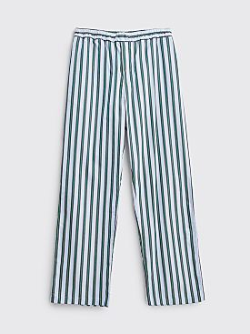 Très Bien Pyjama Pants Poplin University Stripe Green