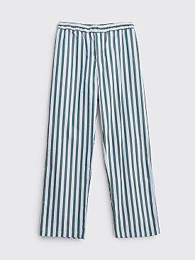 Très Bien Pyjama Pants Poplin University Stripe Green
