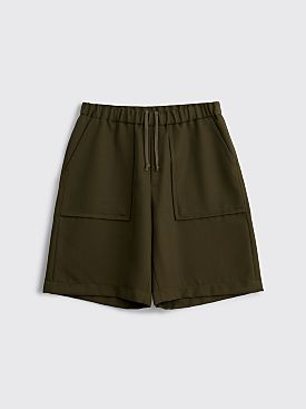 Très Bien Ateljé Fatigue Shorts Tropical Wool Olive Green