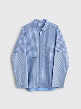 Très Bien Ateljé Fold Shirt Mixed Stripes Blue
