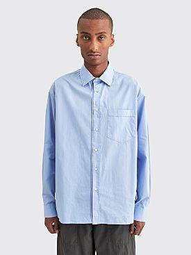 Très Bien Wave Poplin Shirt Blue