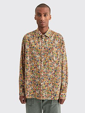 Très Bien Wave Poplin Flower Print Shirt Multi Color