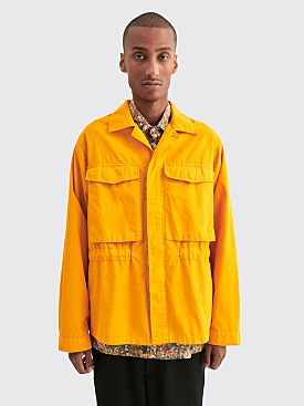Très Bien Utility Shirt 2 Brushed Twill Orange