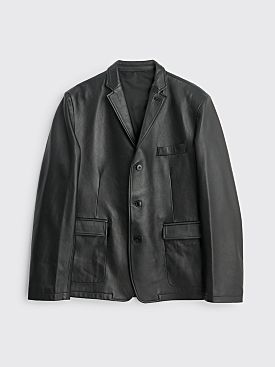 Très Bien Box Leather Jacket Black