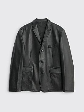 Très Bien Box Leather Jacket Black