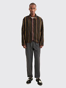Très Bien Bomber Jacket Wool Baja Stripe Multi Color