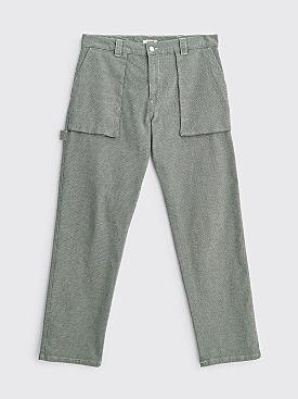 Très Bien Herringbone Twill Fatigue Trousers Light Grey
