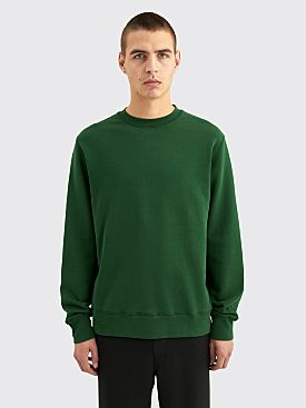 Très Bien Semi Raglan Crewneck Loopback Cotton Forrest Green