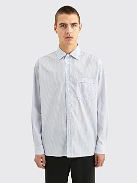 Très Bien Wave Poplin Shirt Blue Stripe