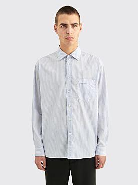 Très Bien Wave Poplin Shirt Blue Stripe