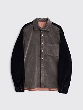 Très Bien Crossed Yoke Shirt Corduroy Grey