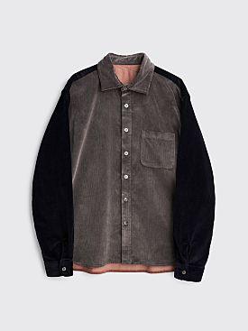 Très Bien Crossed Yoke Shirt Corduroy Grey