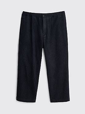 Très Bien Layover Pants Wool Flannel Pant Pinstripe Dark Navy