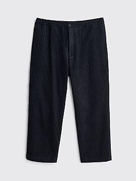 Très Bien Layover Pants Wool Flannel Pant Pinstripe Dark Navy