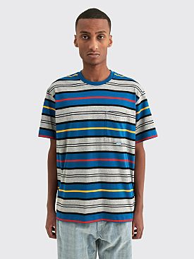Très Bien Volume Pocket T-shirt Stripe Blue