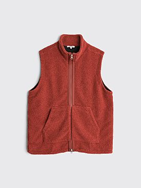 Très Bien Bodywarmer Fleece Wool Rust