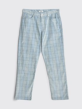 Très Bien 5 Pockets Jeans Loose Baby Cord Blue Check