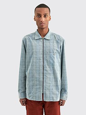 Très Bien Zip Tunic Shirt Baby Cord Blue Check