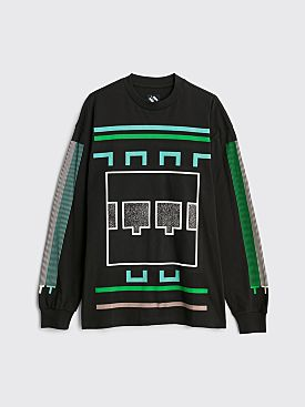 The Trilogy Tapes TTT Block Noise LS T-shirt Black