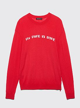Undercover My Mind Is Gone Knitted Wool Sweater Red