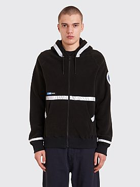 Undercover Astronautics Hooded Zip Fleece Sweater Black